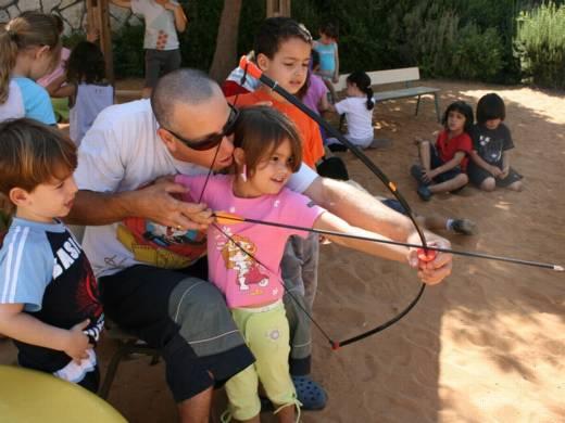 מטווח חץ וקשת - פעילות בגן ילדים