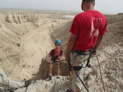 סנפלינג נחל קומראן - מפל 30 מטר