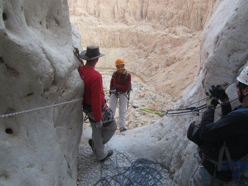 סנפלינג במפל השני בנחל פרס עם נועם בנק