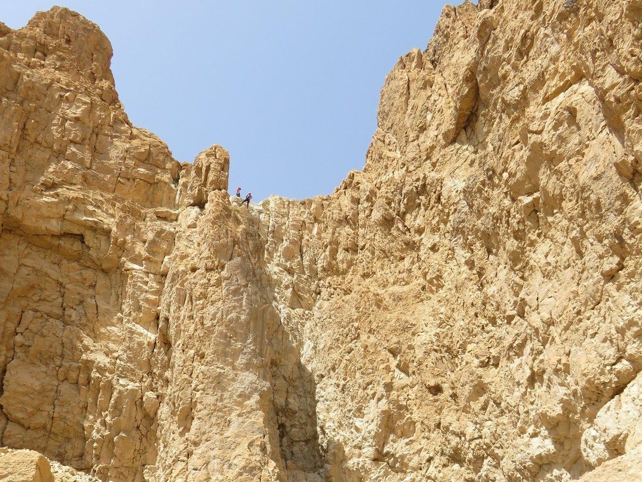 סנפלינג מדבר יהודה עם ערוצים בטבע