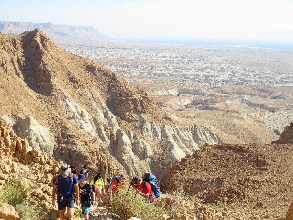 טיול סנפלינג במדבר יהודה עם banketgarim