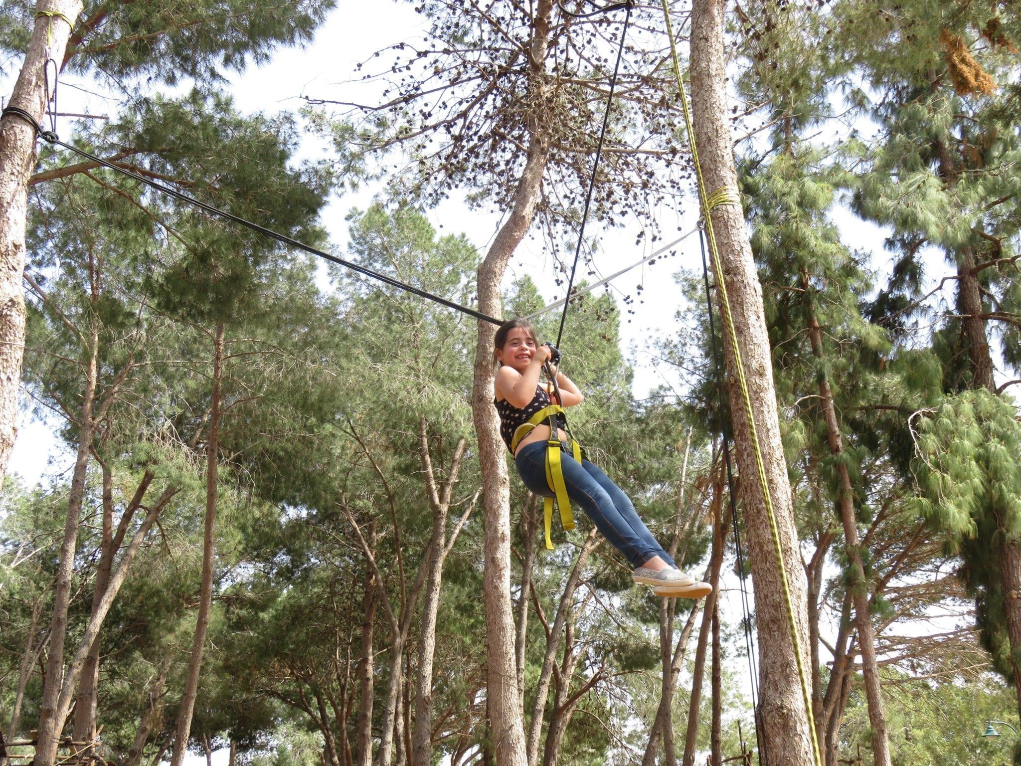 סווינג בין העצים יום הולדת אתגרי ערוצים בטבע