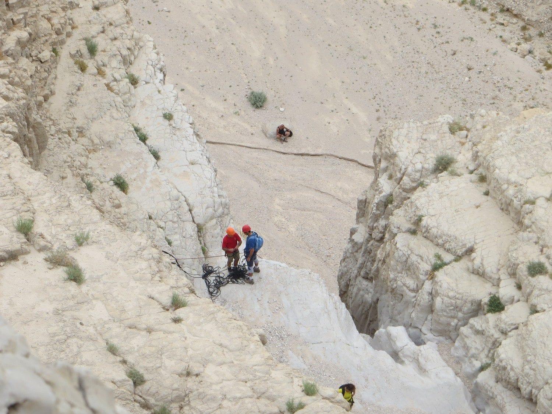 המפל המדורג בטיול סנפלינג בנחל תמרים banketgarim