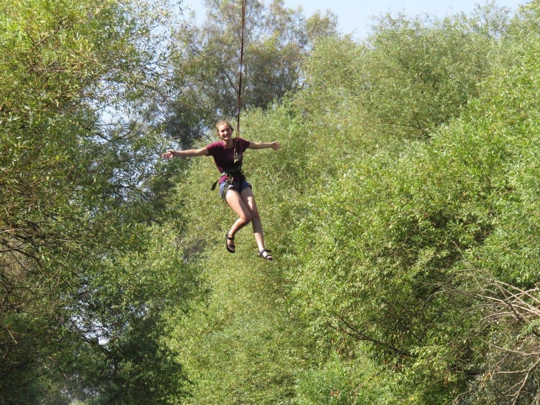 לעוף כמו ציפור בנדנדת סענק בין העצים banketgarim