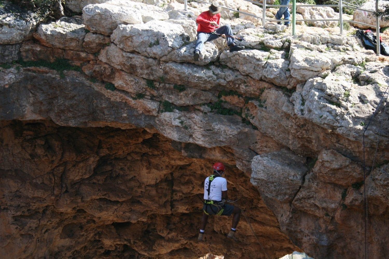 נדנדת ענק במערת קשת עם נועם בנק