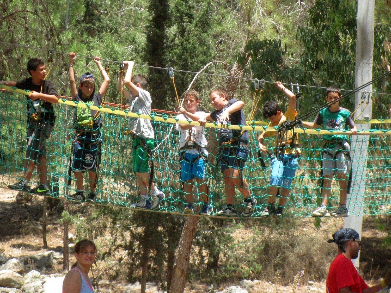 יום גיבוש לבתי ספר גשר חבלים ערוצים בטבע