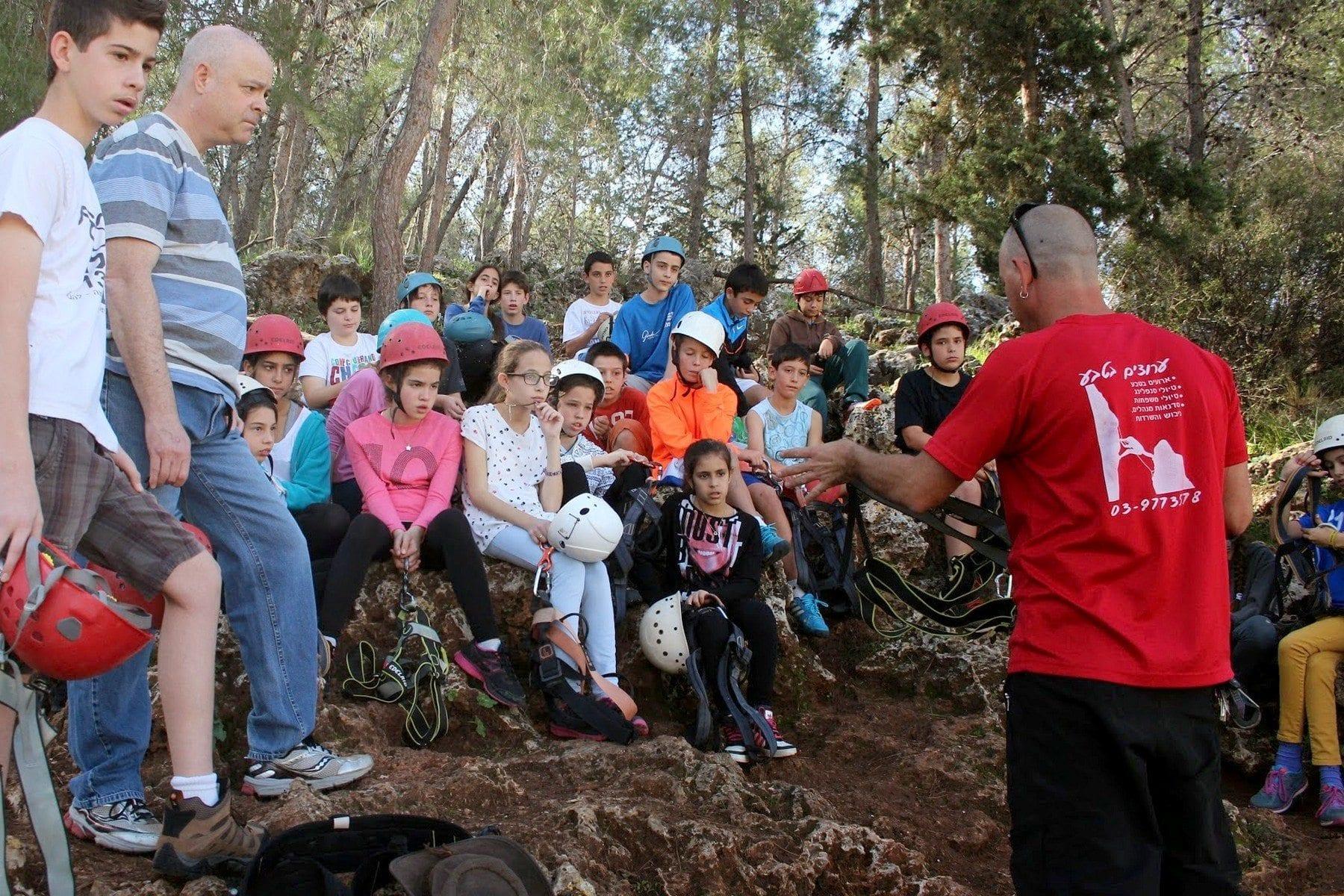 בית ספר - סנפלינג בשילת -  ערוצים בטבע