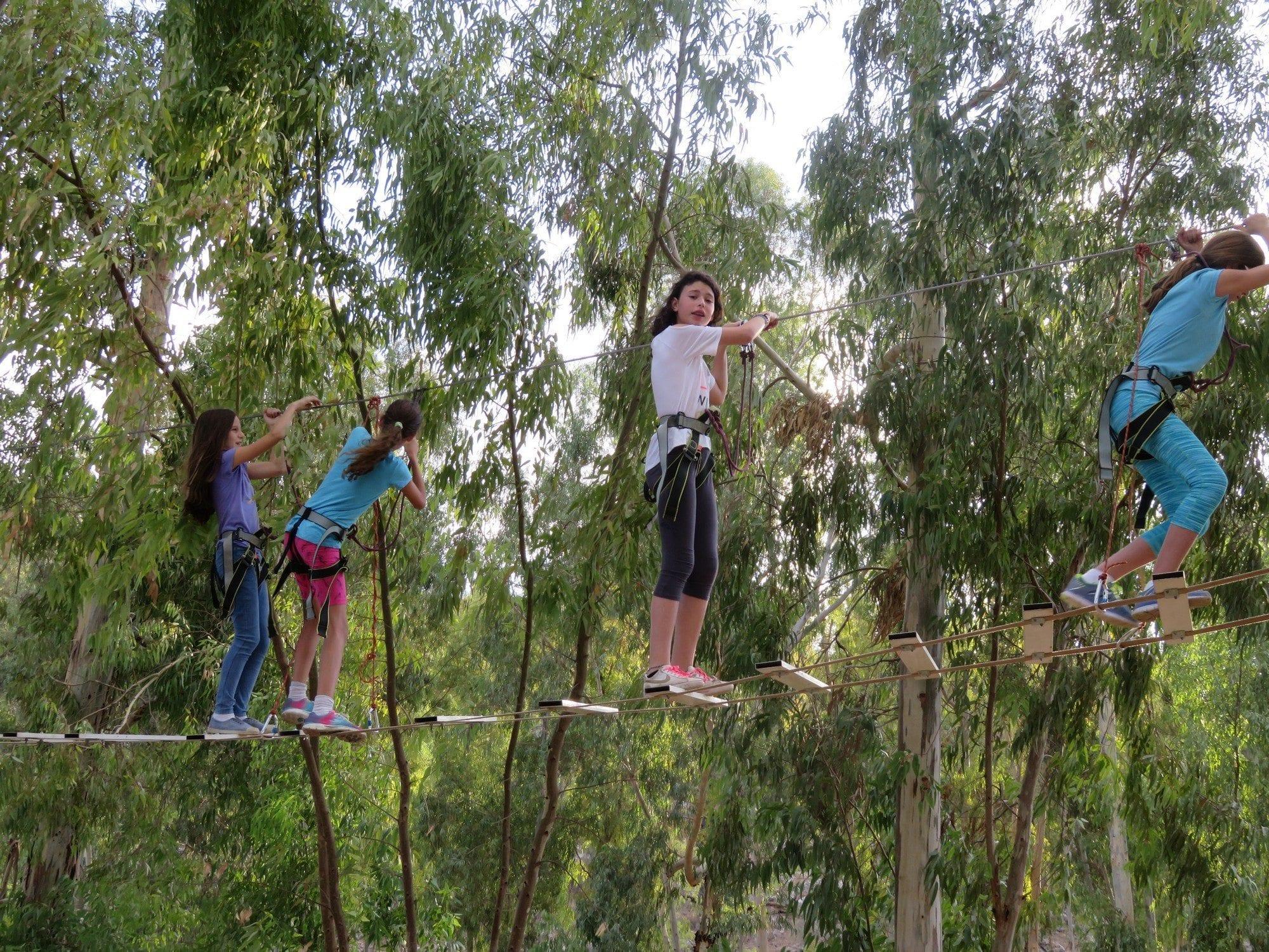 פארק על חבלים - בת מצווה עם ערוצים בטבע