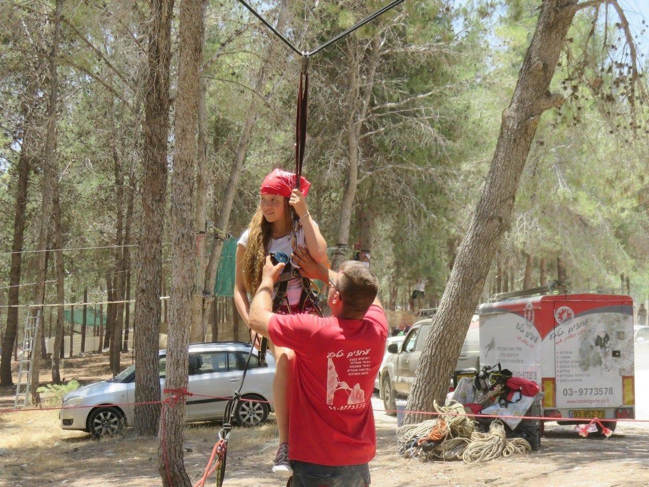 פעילות אתגרית לבר מצווה - ערוצים בטבע - סווינג