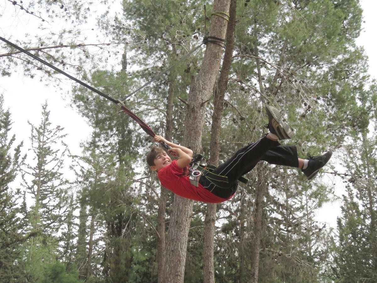 פעילות אתגרית לבת מצווה - ערוצים בטבע - סווינג