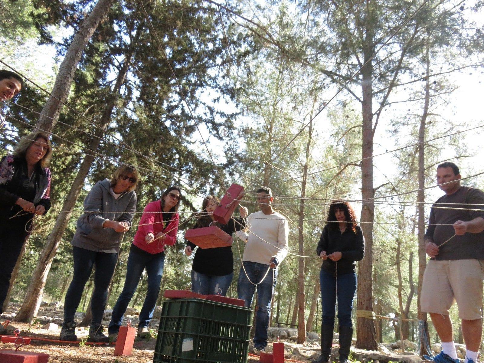 פעילות ODT עם ערוצים בטבע