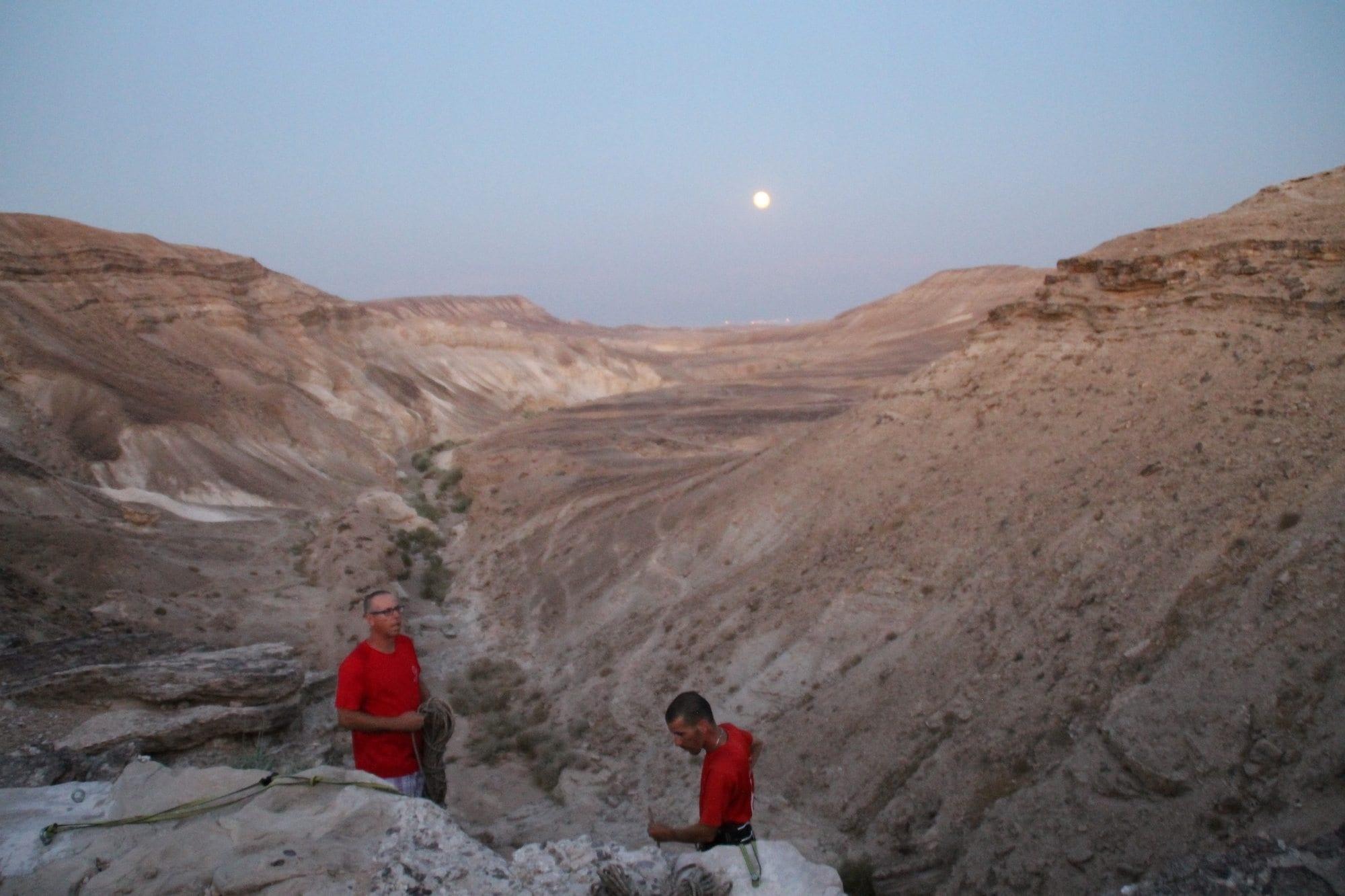 ירח מלא - טיול סנפלינג