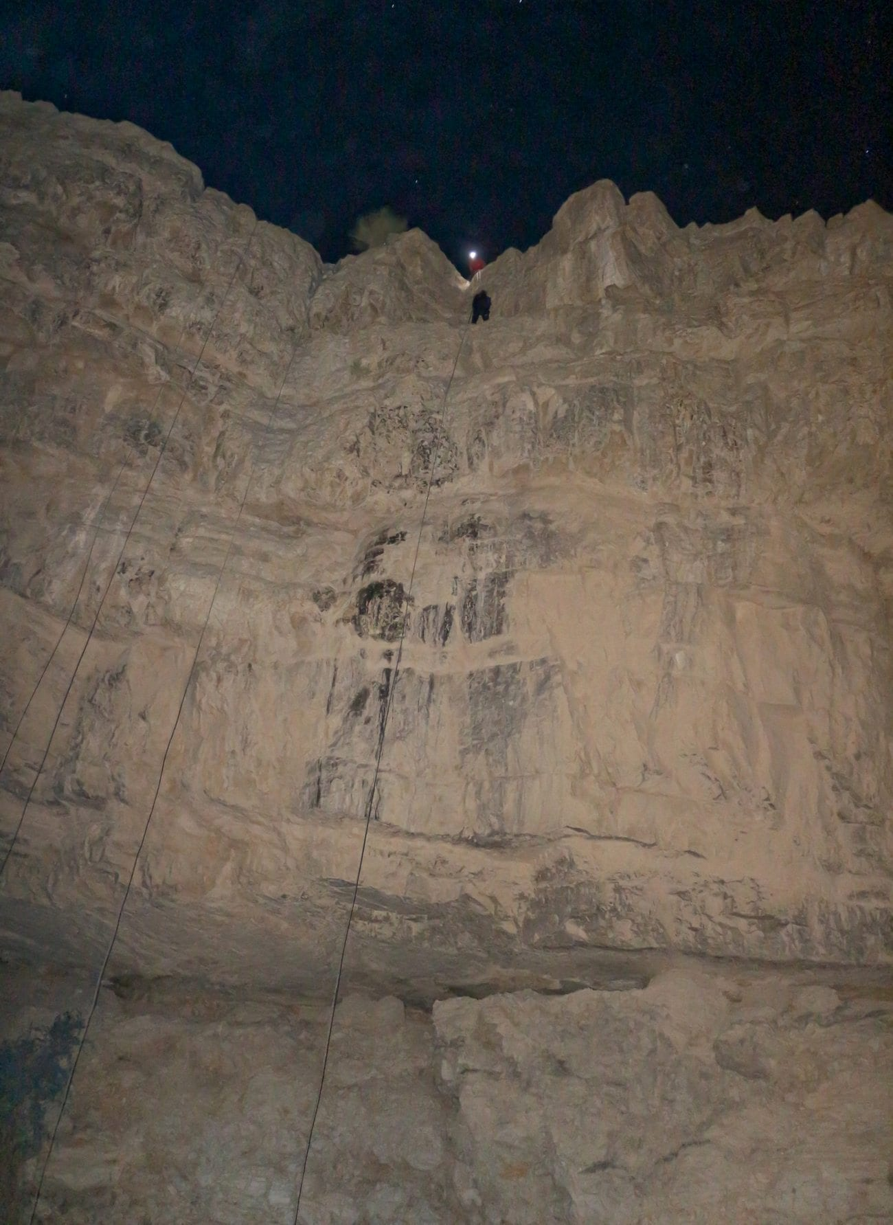 גלישת סנפלינג בלילה - ערוצים בטבע