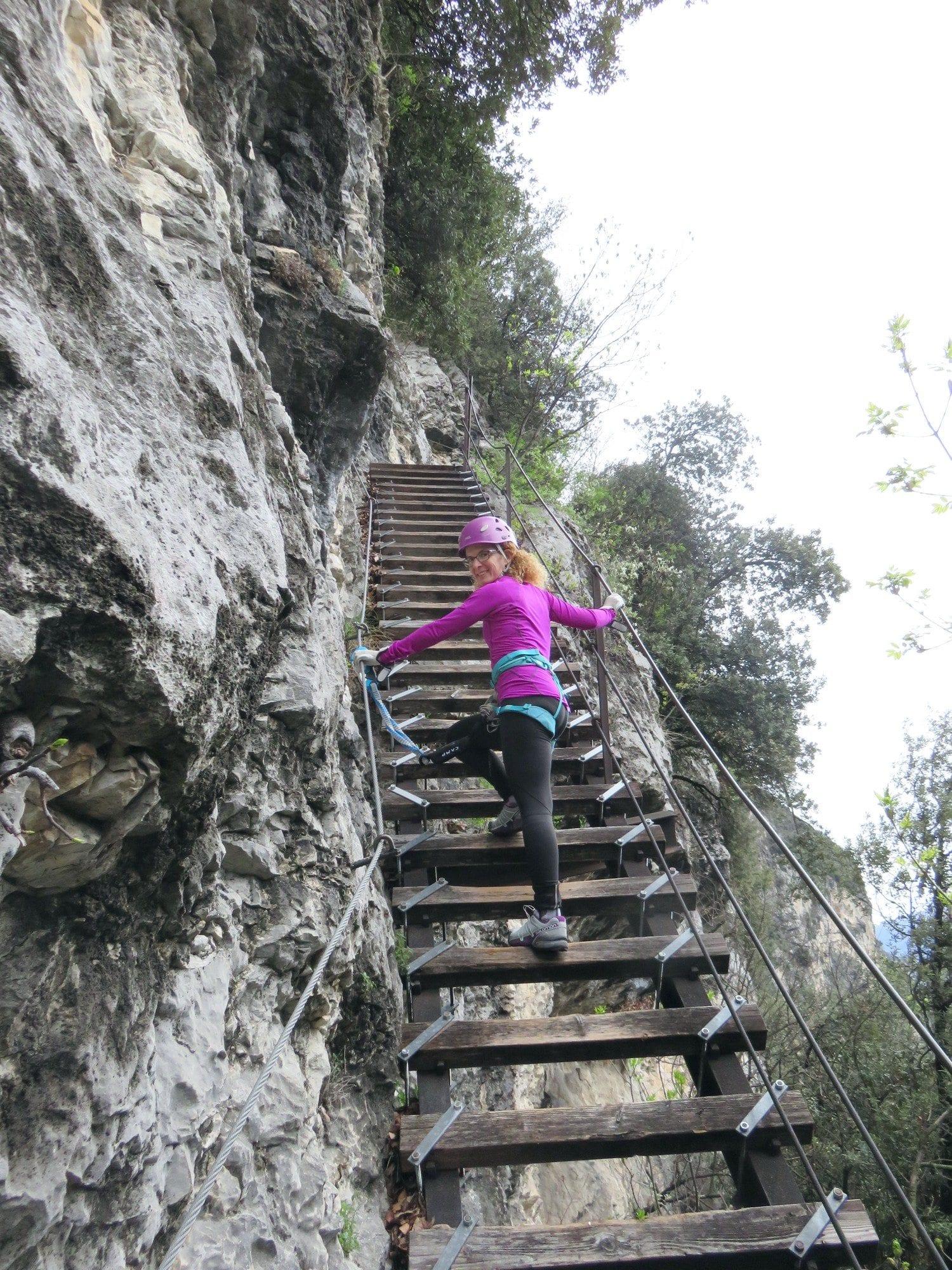 ויה פראטה Scaloni, ארקו, דולומיטים, טיול אתגר בצפון איטליה, ערוצים בטבע