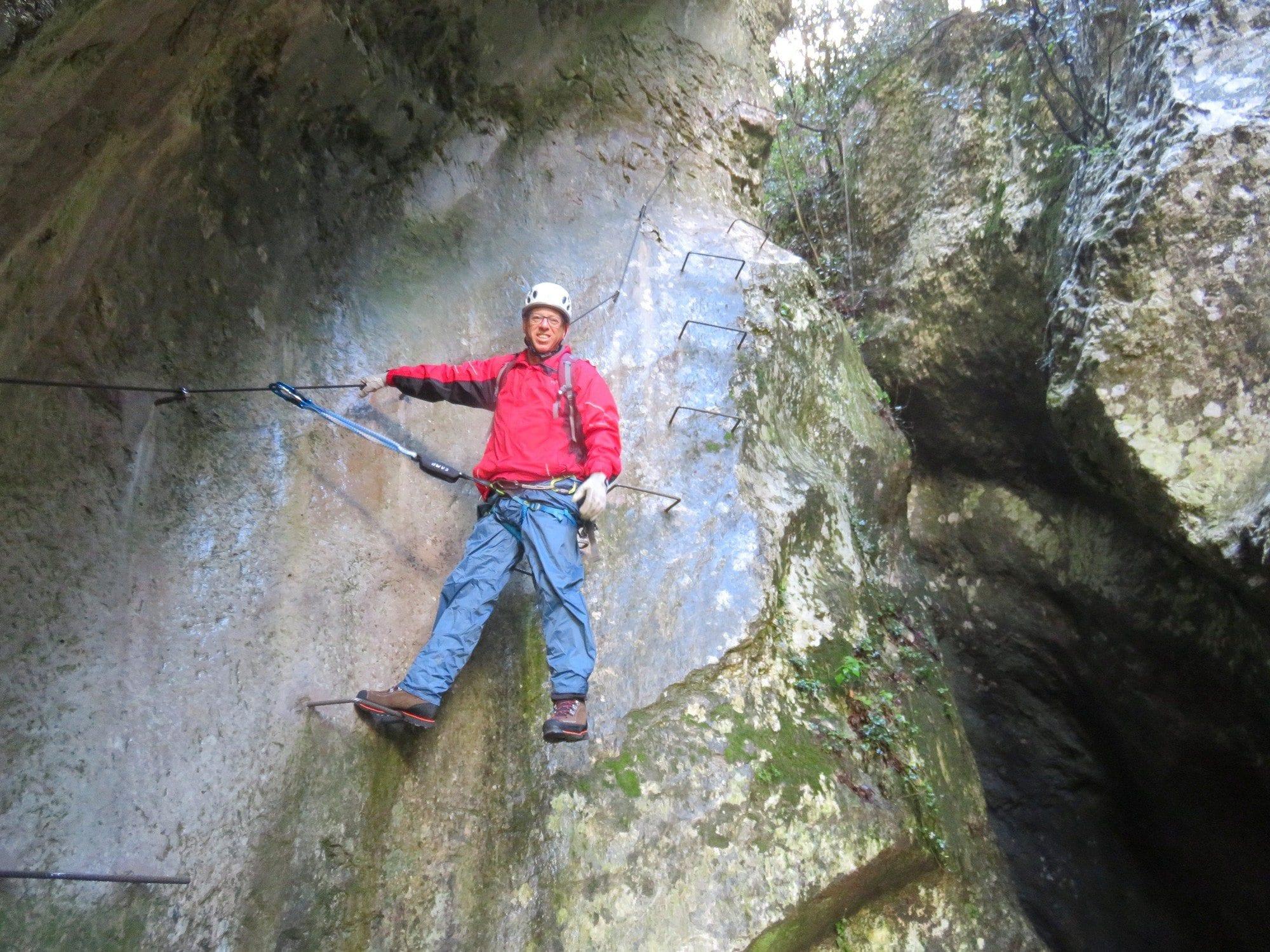ויה פראטה Sallagoni, טיול אתגר, איטליה, ערוצים בטבע