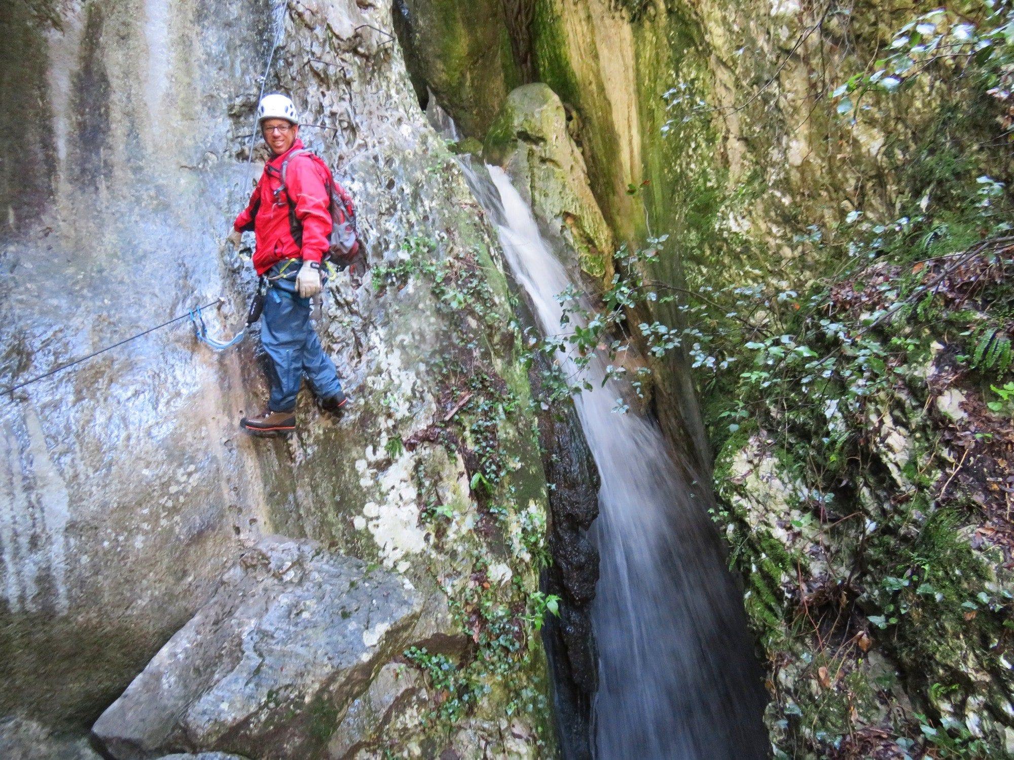 ויה פראטה Sallagoni, טיול אתגר, צפון איטליה, ערוצים בטבע