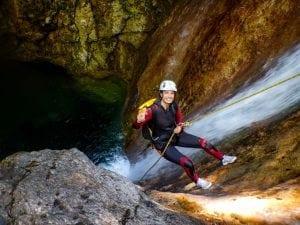 סנפלינג פליון יוון ערוצים בטבע