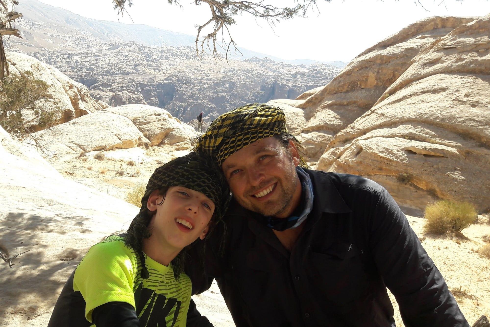 מטיבי לכת בירדן - ראג'ף – Jordan עם ערוצים בטבע