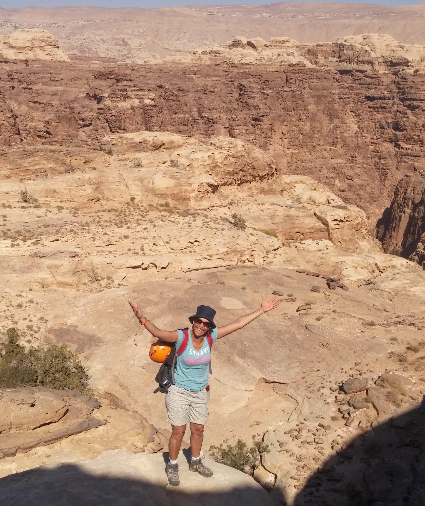 קניוני ראג'ף – Jordan עם ערוצים בטבע