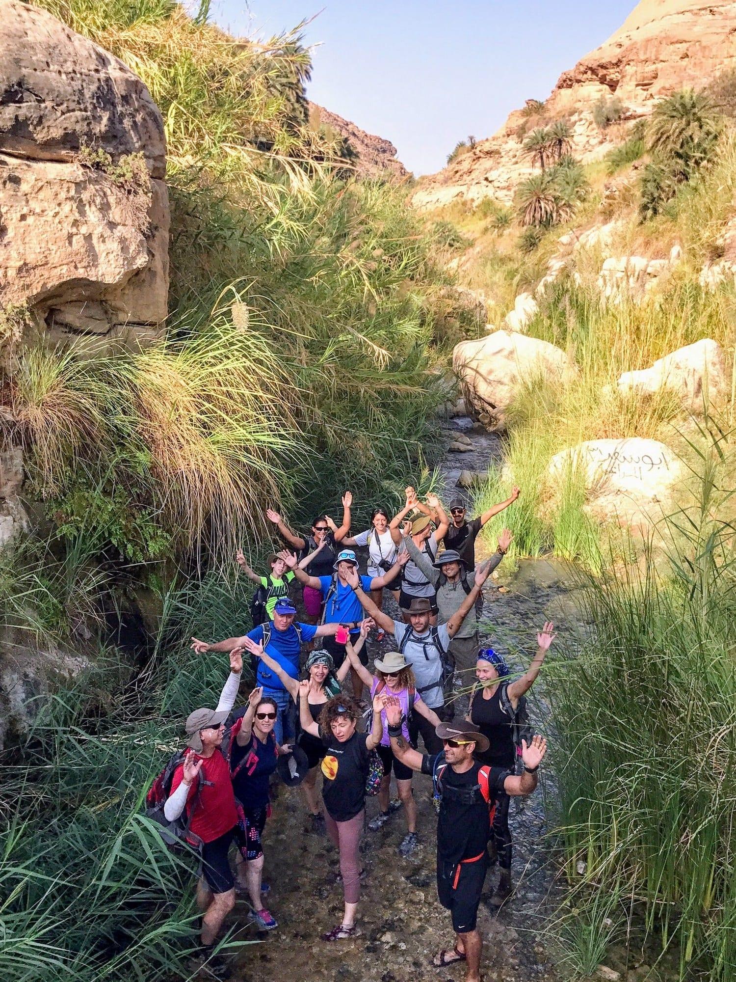 מטיילים בירדן עם ערוצים בטבע - Jordan