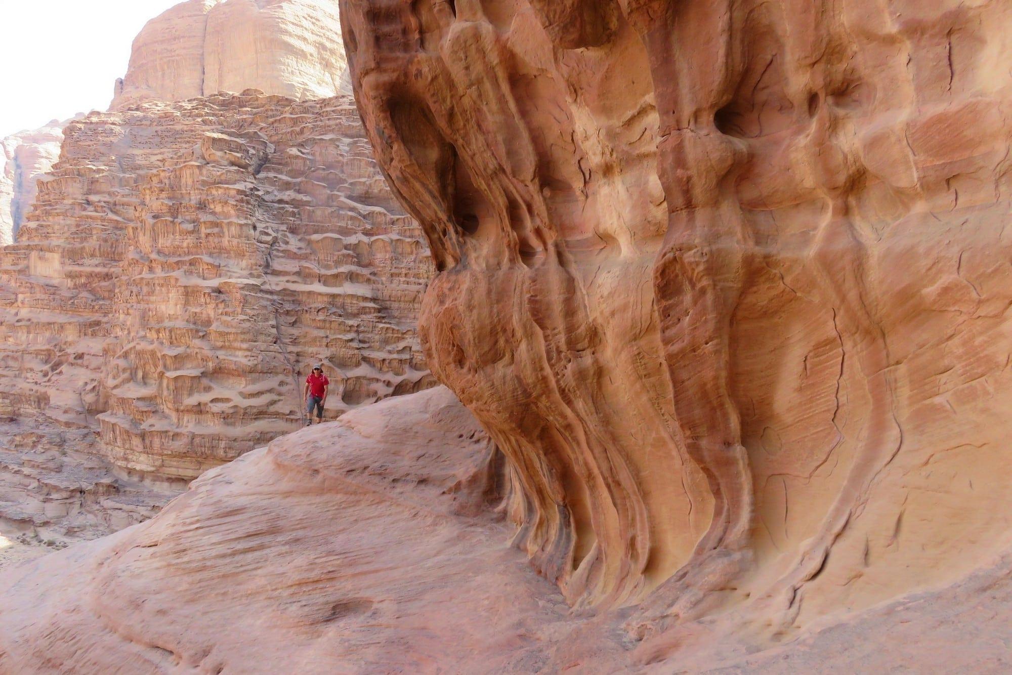 ואדי ראם, טיול לירדן, מטיבי לכת, ערוצים בטבע