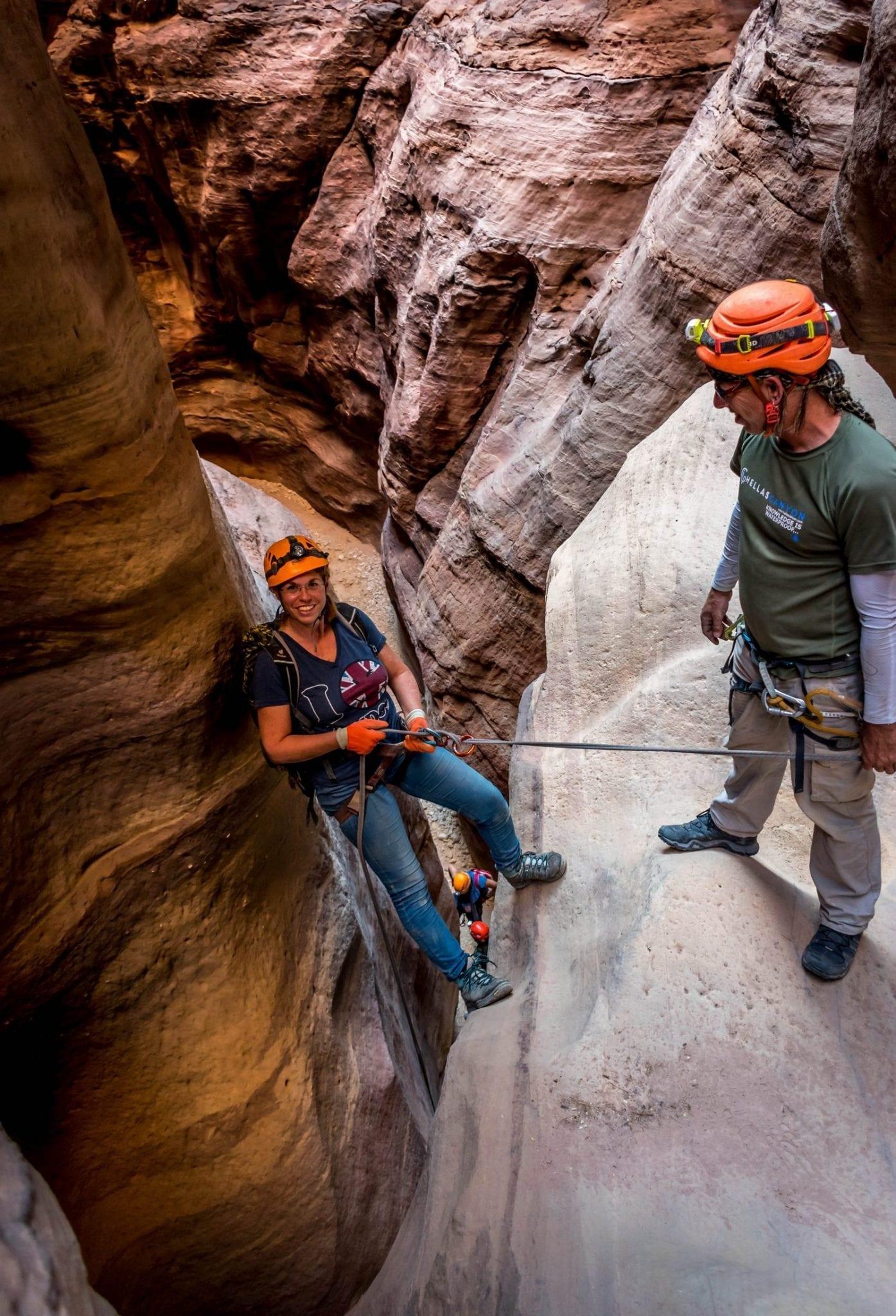 טיול סנפלינג בירדן - קניוני ראג'ף - בהדרכת ערוצים בטבע