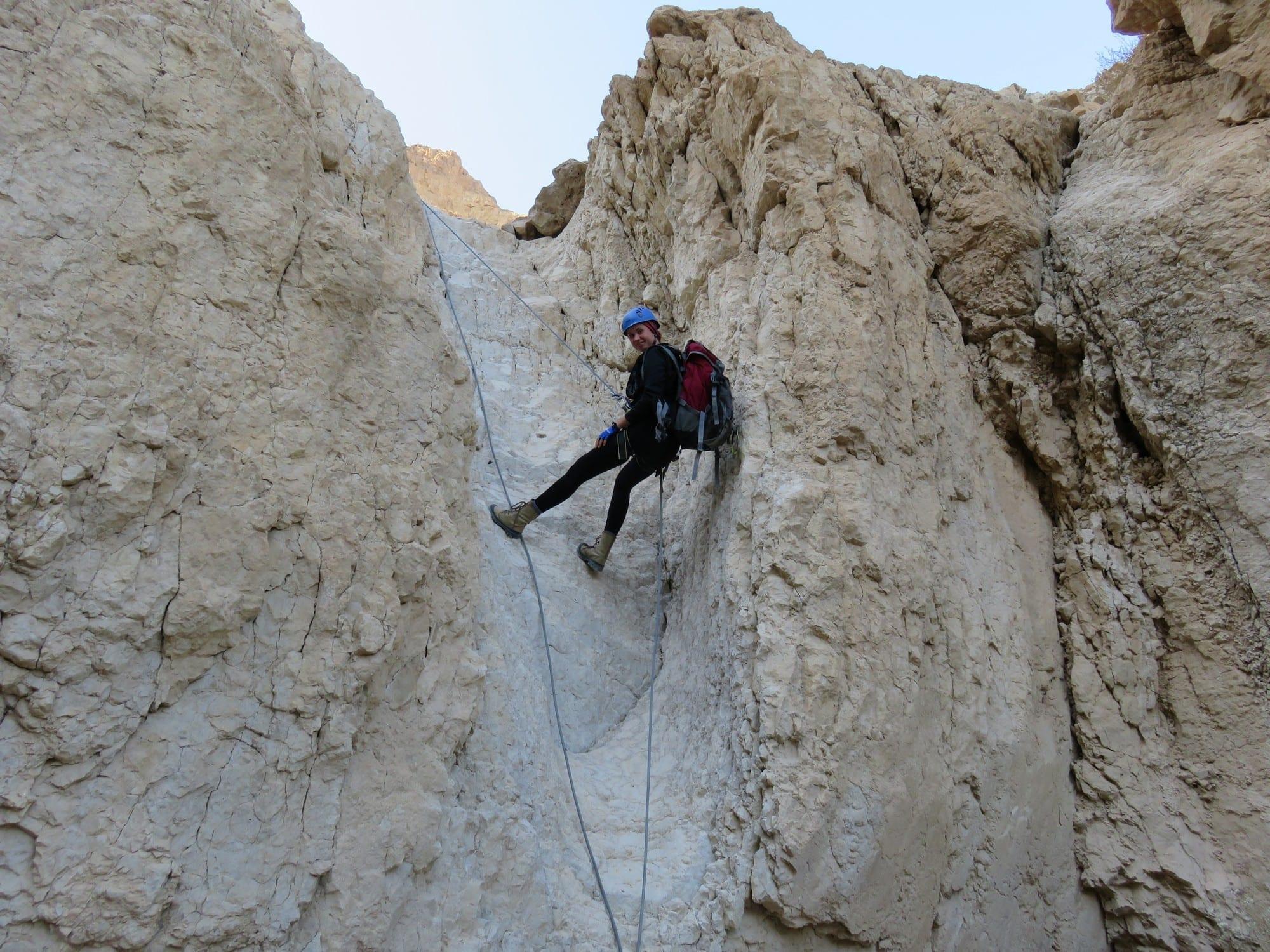 טיול סנפלינג למתחילים בנחל טור תחתון - ערוצים בטבע