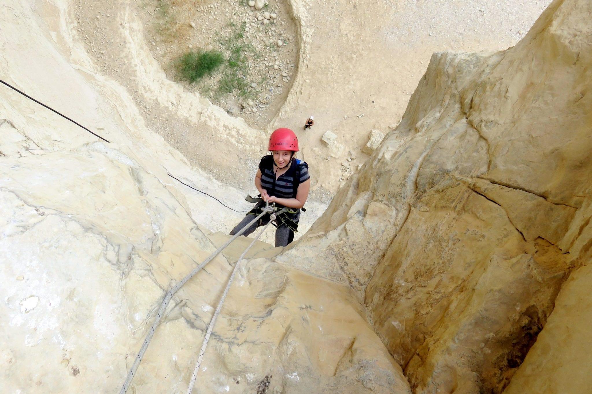 סנפלינג 40 מטרים נחל רחף - ערוצים בטבע