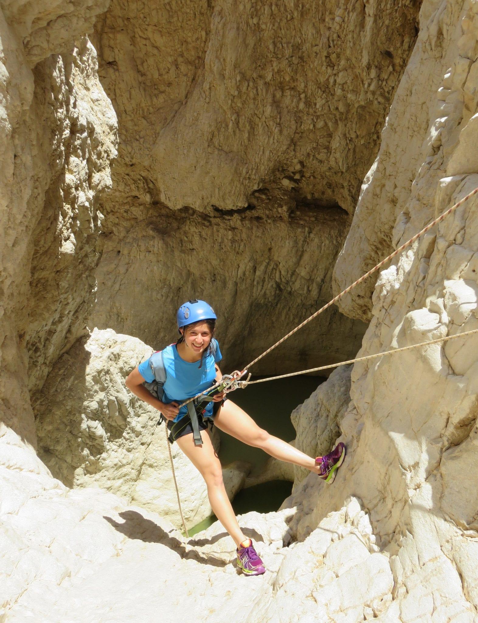 סנפלינג מפל 15 מטרים רחף תחתון - ערוצים בטבע