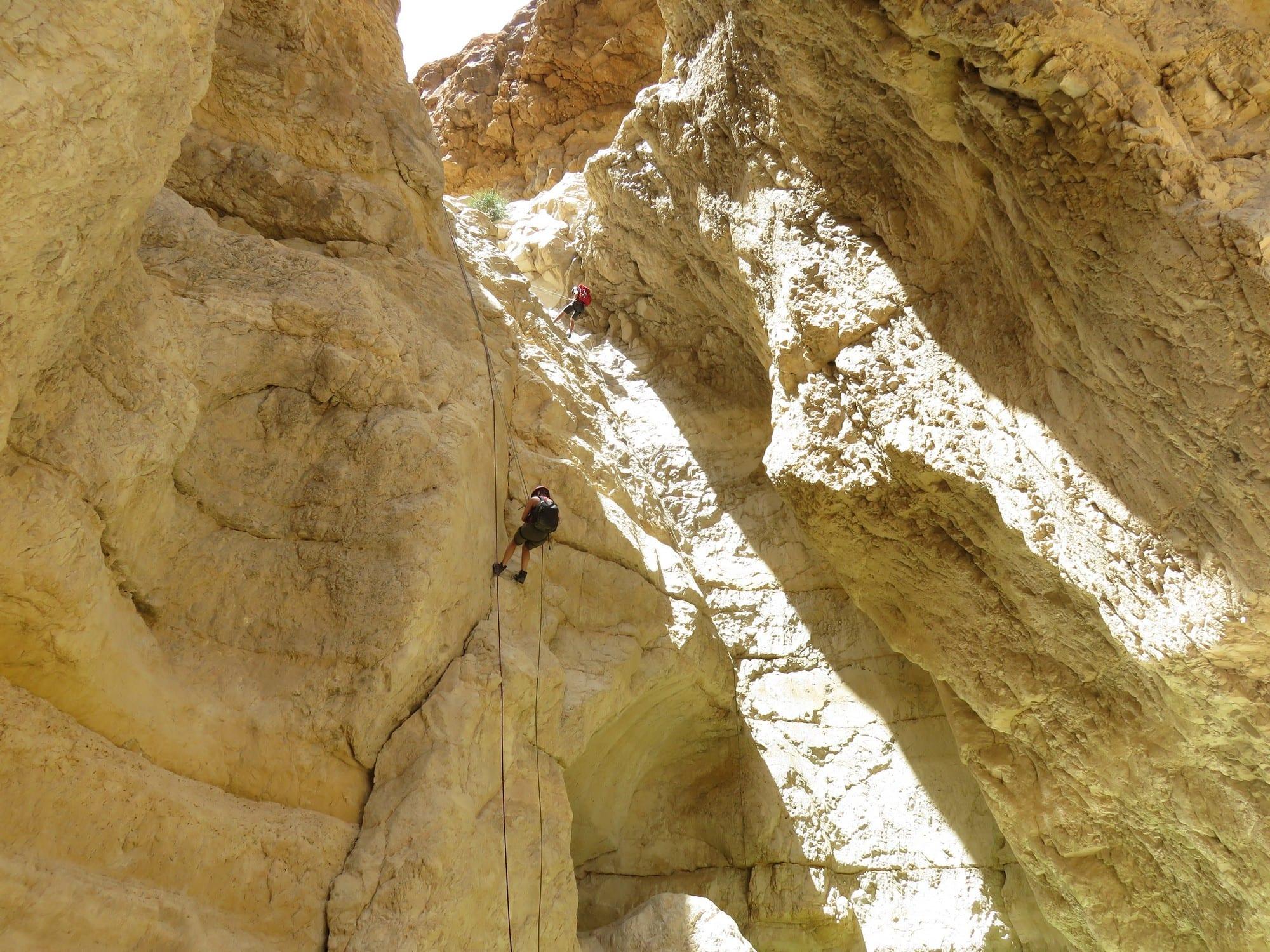 Rahaf  river- rappelling trip Dead Sea