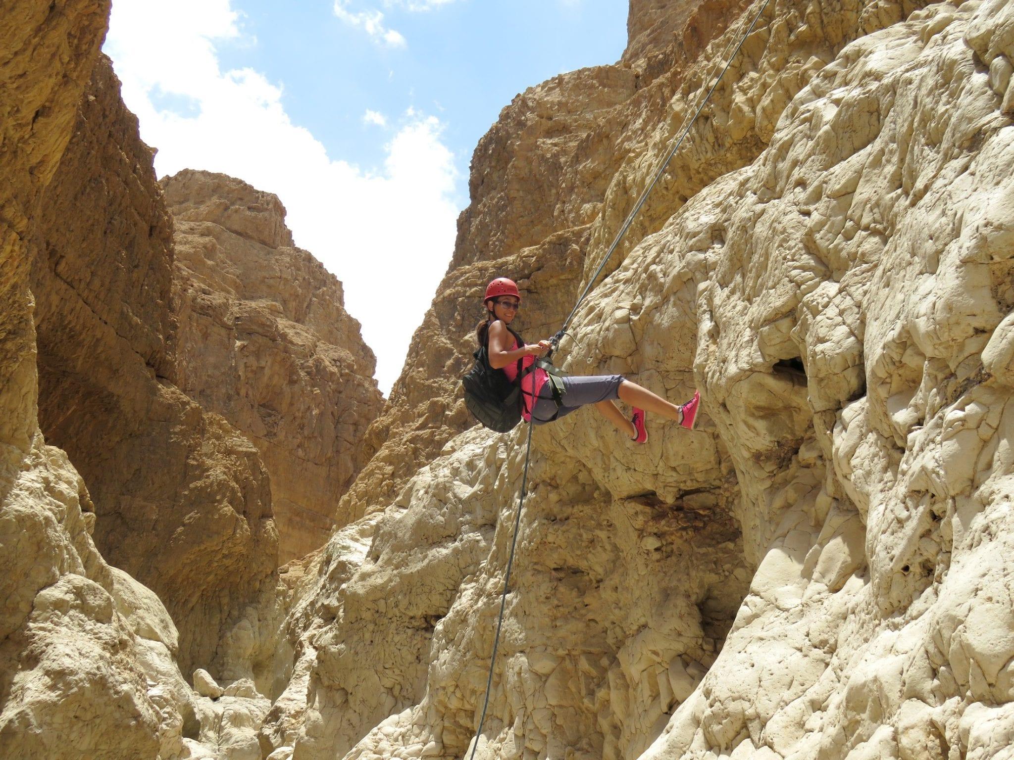 Nachal Rahaf - Rappelling trip with banketgarim