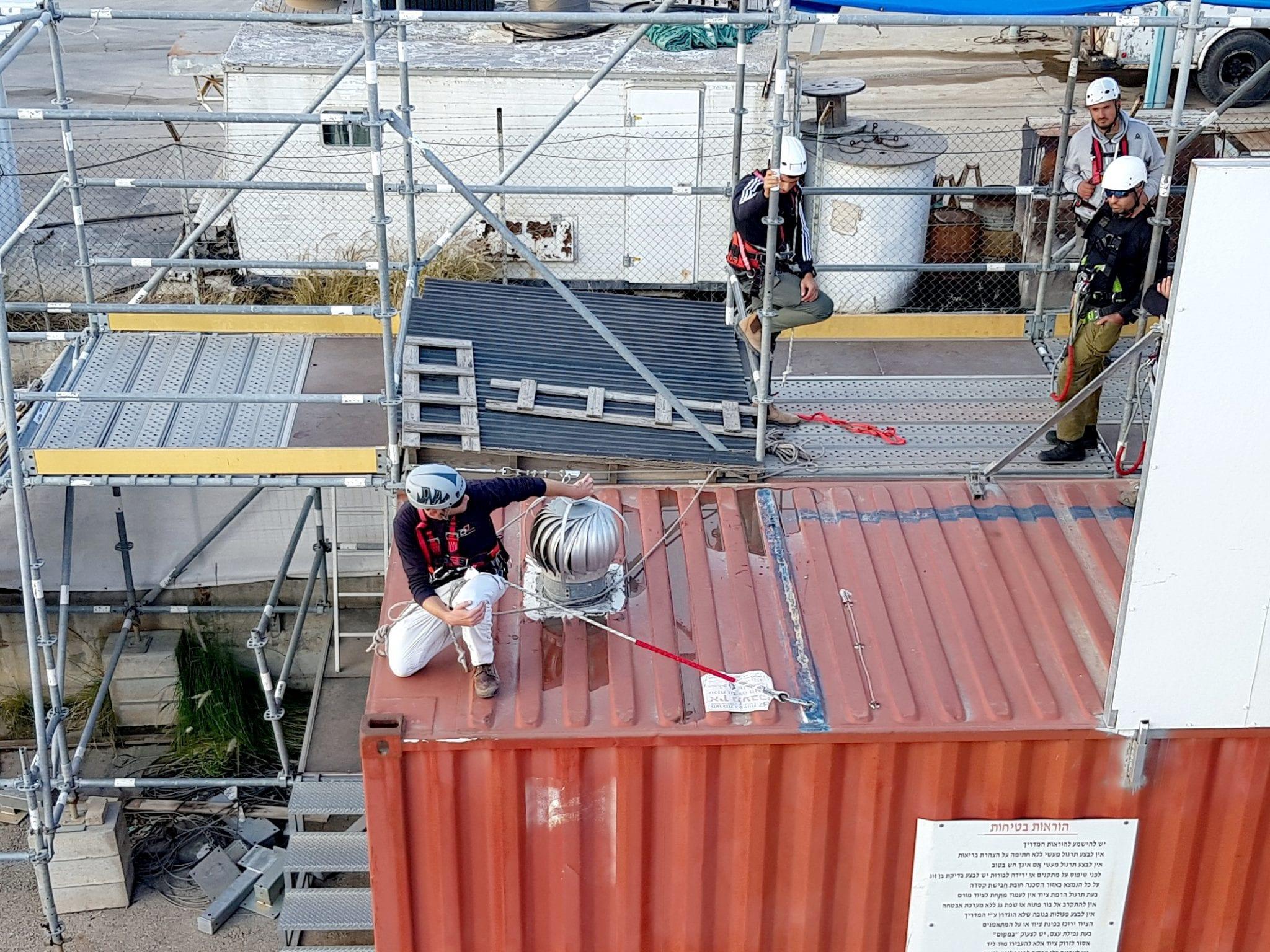 גגות פיגומים עבודה בגובה - קורס ערוצים בטבע