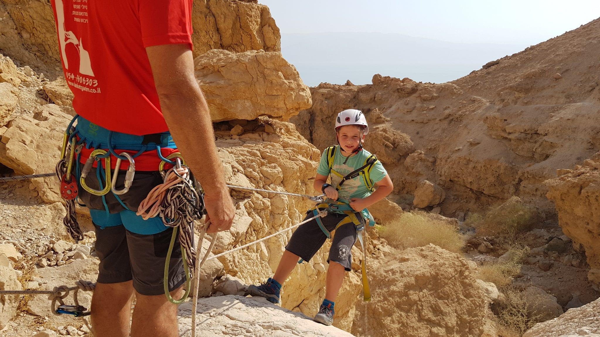 טיול סנפלינג לילדים - טור תחתון - ערוצים בטבע