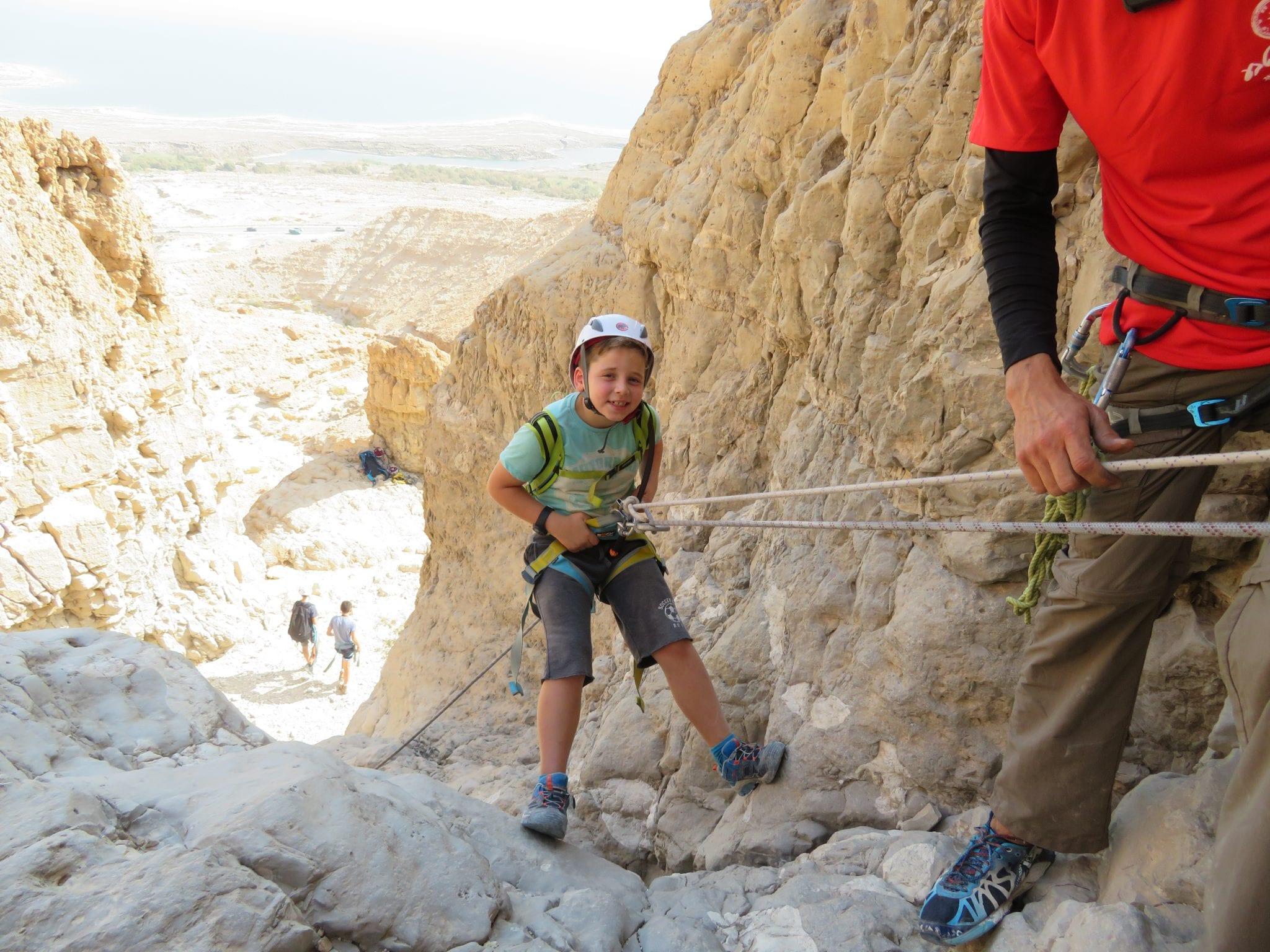 סנפלינג לילדים - טור תחתון - ערוצים בטבע