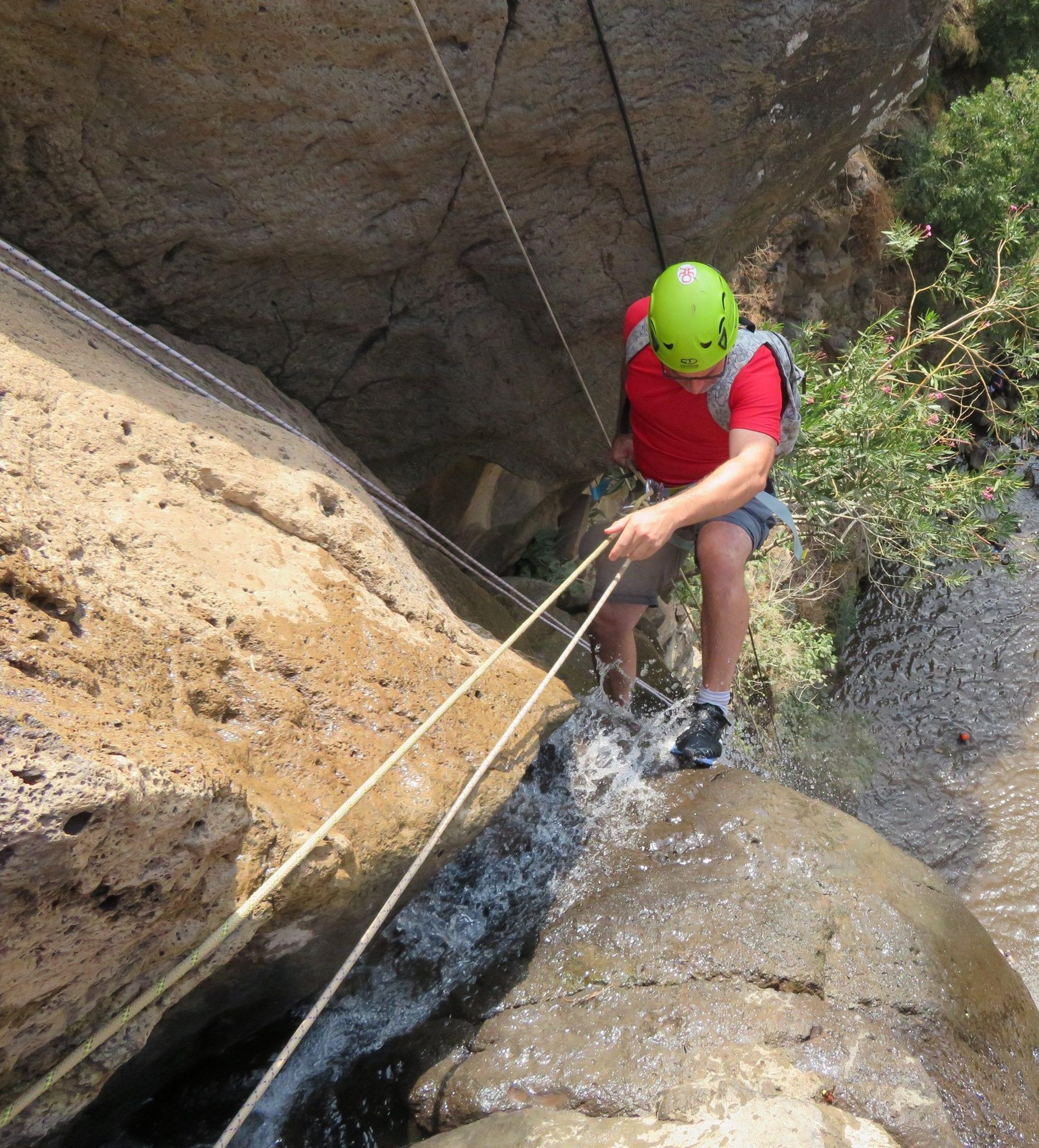 סנפלינג גבוה - 40 מטרים נחל גילבון - ערוצים בטבע