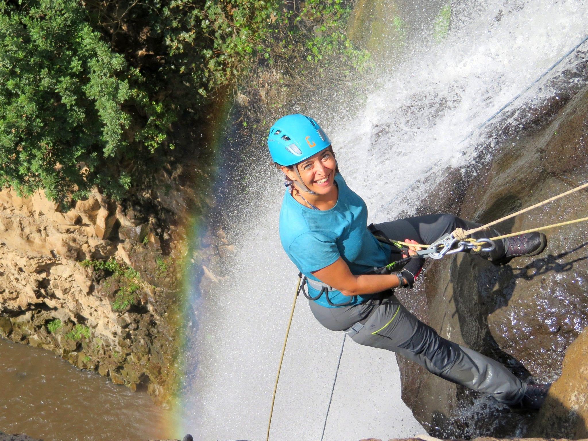 טיול סנפלינג בנחל ג'ילבון - ערוצים בטבע