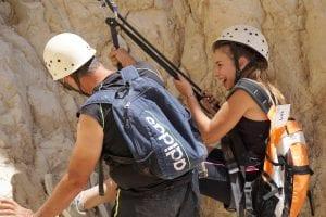 סנפלינג מסע הורה ילדה - ערוצים בטבע
